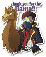 Thank you for the llama!! by BenArtsStudio