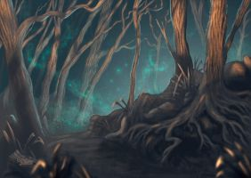 Enchanted Forest by ChemaIllustration