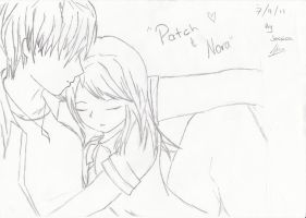 Patch and Nora from Hush, Hush by AerithxZack