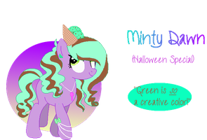 Minty Dawn- Halloween Special Pone Adopt|OPEN by MadWhovianWithABox