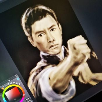 Ip Man sketch by Anastasja-A-Art