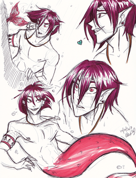 Free-Mer Rin doodles by Stray-Sketches