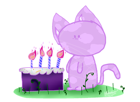A Cat With A Cake by CatGirl22111
