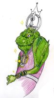 Frog and gold by jdraw
