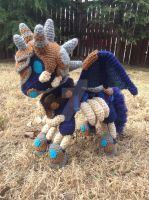 Invincible Amigurumi - Flared Wings Pose by TallGrassArt