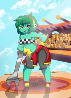 Rottytops Pit crew girl by ZzVinniezZ