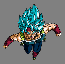 Bardock SSJ Blue by hsvhrt