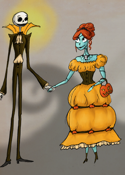 Jack and Sally outfits by WaterLily-Gems