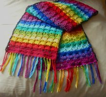 Rainbow Shawl by nimuae
