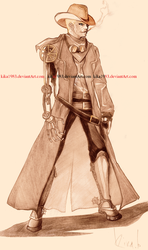 Steampunk cowboy-commission by kika1983
