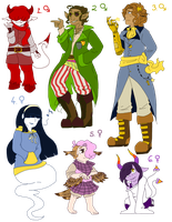 Humanoid Adopts (CLOSED) by MysticHatterCat