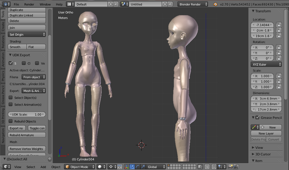 BJD WIP by Noblewreck update 3 by Noblewreck