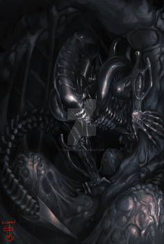 LV-426 Alien Day Painting