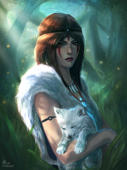 Princess Mononoke 'Years Later' v2 by raikoart