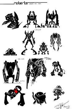 Silhouette Quick Study: ROBOTS 01 by EpoCALYPsE