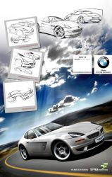 BMW Z8 2010 concept project by yasiddesign