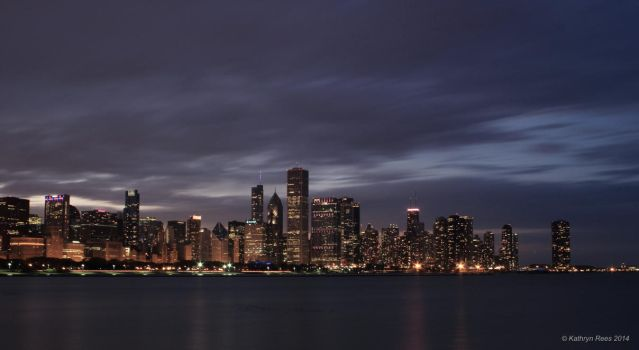 Chicago by Night by KERphotography