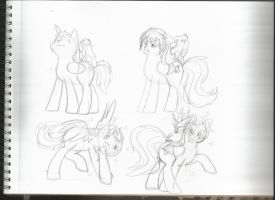 FrUk pony sketchies by theresamooseloose