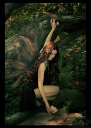 Woodland Fae -Color- by kedralynn