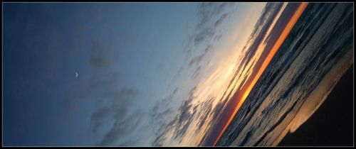 moon-sunset panorama 2 by gbarill