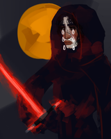 local fellow wont stop drawing kylo ren by peoniee