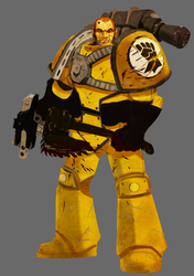 30k Imperial Fist Tactical Marine Veteran by earltheartist