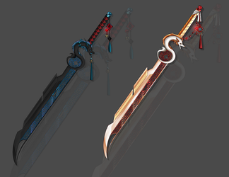 Yin and Yang weapon adopt auction CLOSED by Liowa