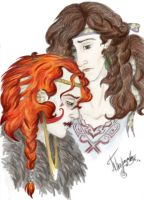 Loki and Sigyn by Run1and1hide
