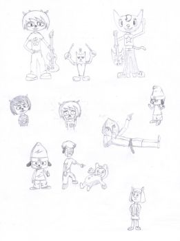 Parappa the Rapper Doodles by CircuitDC