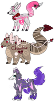 Valentine's Day Adopts (Auction - Closed!) by Pandemonium-Hearts