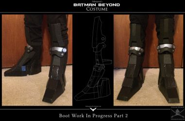 Batman Beyond Cosplay - Work in Progress Part 7 by SaberPeep
