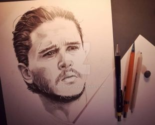 Jon Snow WIP by emicathe