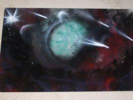 Space Painting 1 by Forlork