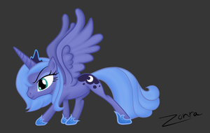 Luna Drawing by Zonra