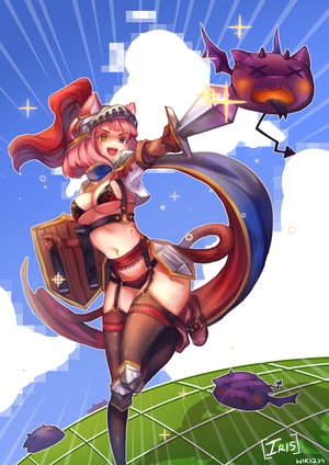 [CE] Iris(Cat girl) Illustration Contest by Wiki234