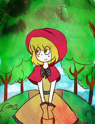 Little Red Riding Hood by dinosauriomutante