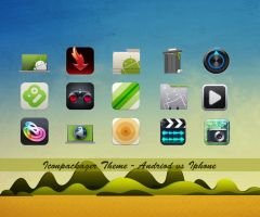 Andriod vs Iphone iconpackager by wolvraj