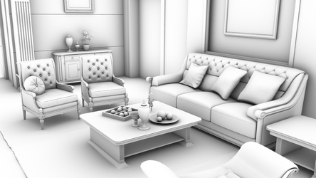 Render Living Room- AO by SRuelas