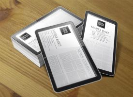 ipad corporate business card by Lemongraphic