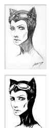catwoman_quick sketch by oxydgenesis