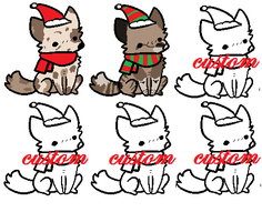 xmas adopts + customs CHEAP by PunkIceAdopts