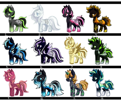 Pony Batch Auction [CLOSED] by MAYHEM-ADOPTS