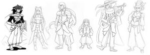 6 Main Characters of Verboten by HolyLancer9