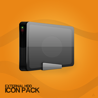 External HDD Icon Pack by azad720