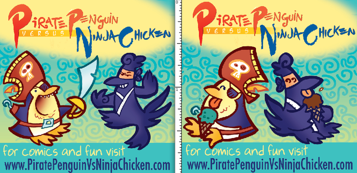 PiratePenguinvsNinjaChickenTag by raisegrate