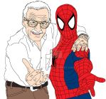 Stan Lee and Spider-Man by ARTIST-SRF