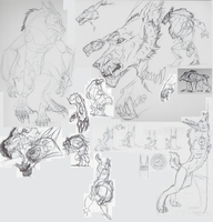 Seiberling sketches by RedWolfmoon
