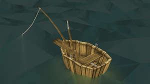 Lowpoly boat (with fancy water !) by lithium-sound
