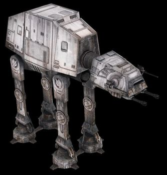 AT-AT Low Poly by Wolf-in-Exile
