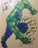 My Hulk Sketch Signed by Mark Ruffalo by Hominids